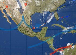Ambiente estable y seco en la mayor parte de la República Mexicana