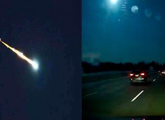 El increíble video de un meteorito cayendo en la ciudad de Detroit