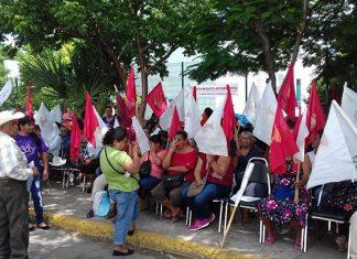 Continúa plantón de antorchistas en Comapa Victoria