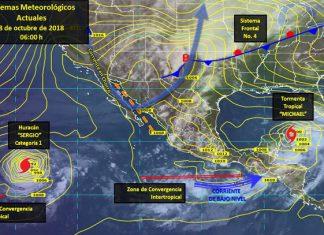 Causará frente frío 4 fuertes lluvias en 3 entidades