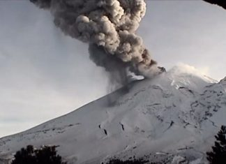 Registra el Popocatépetl exhalaciones con ceniza