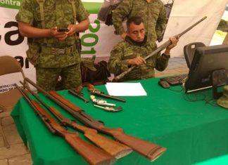 Instalan módulo para canje de armas