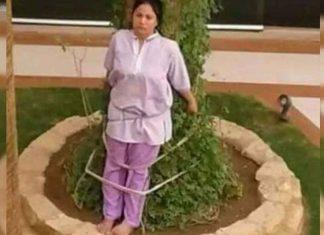 Atan a un árbol a empleada doméstica por castigo