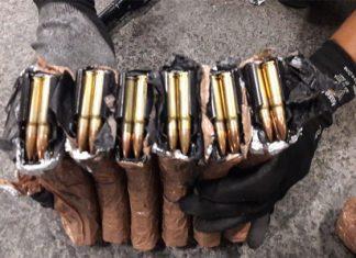 Hallan armamento en caja de pañales en aeropuerto de SLP
