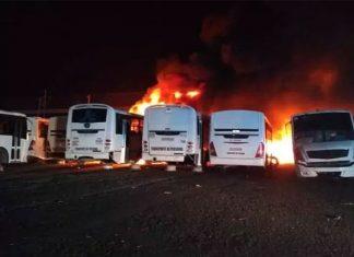 Se incendian 30 camiones en El Marqués, Querétaro