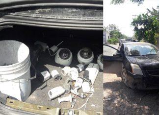 Aseguran auto con reporte de robo en Puerta Grande