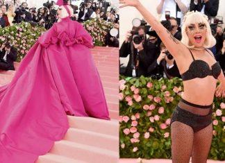Lady Gaga se viste y desviste en el MET