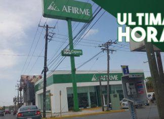 Asaltan con pistola en mano Banco AFIRME en Reynosa y escapan
