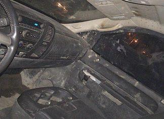 Aseguran en Reynosa, camioneta con blindaje artesanal