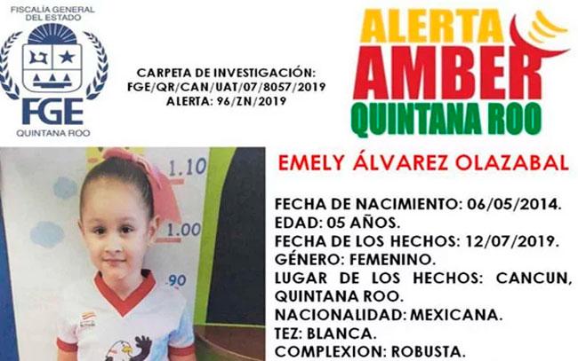 Emely de 5 años desapareció y activan Alerta Amber