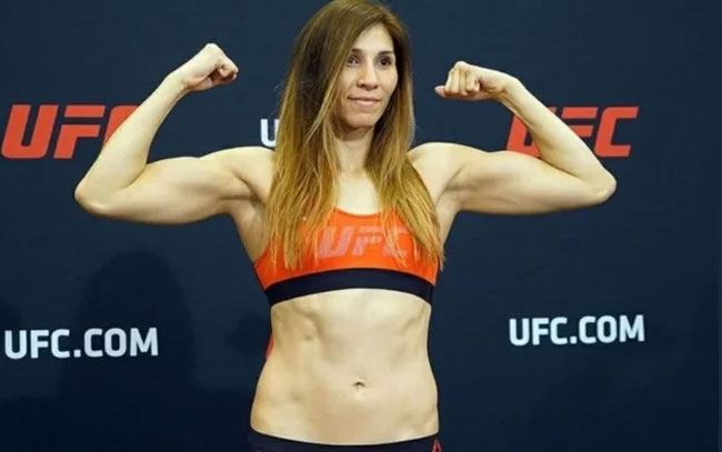 Mexicana Irene Aldana se crece en UFC