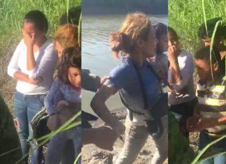 Se aferran migrantes a cruzar por el río Bravo
