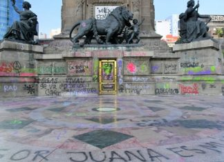 Cierre del Ángel es por restauración, no por grafitis