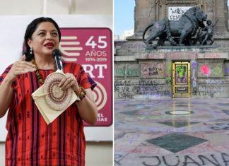 Daños materiales reversibles, daños a la mujer requieren trabajo: Secretaria de Cultura