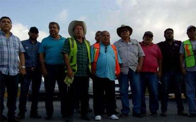 Se manifiestan los transportistas de Altamira