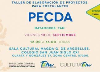 Atentos creadores y artistas en Matamoros interesados en el PECDA