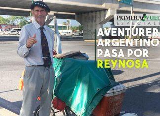 Aventurero argentino pasa por Reynosa