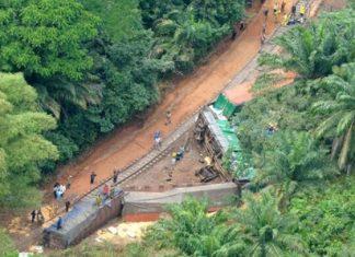 Mueren 50 personas al descarrilarse un tren en el Congo