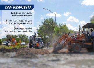 Solucionan problema de drenaje sanitario en Balcones de Alcalá