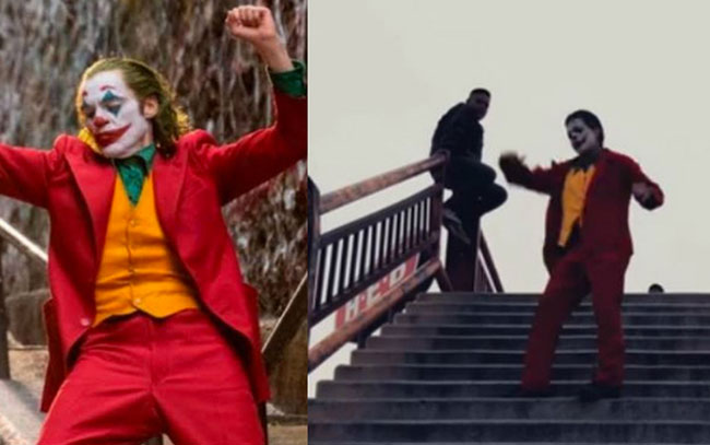 En Matamoros joven imita escena de 'Joker' ¿Nació el #jokerchallenge?