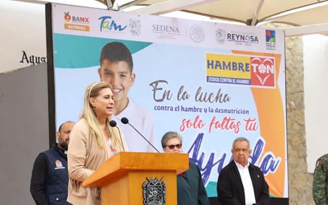 Se entregó donativo de alimentos en Reynosa
