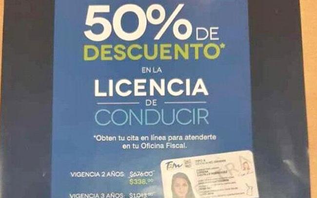 Ofrecen licencias de manejo con descuentos