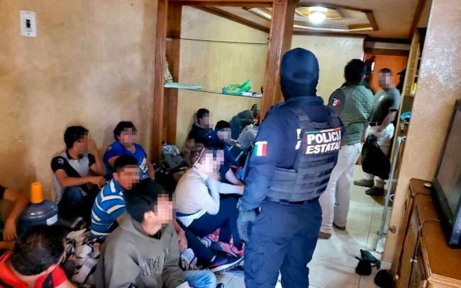 Rescatan a 21 migrantes en casa de seguridad en Tamaulipas