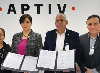 Firman convenio UAT y la empresa APTIV en Reynosa