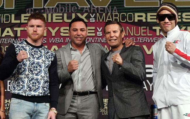 JC Chávez y De la Hoya planean tercer combate
