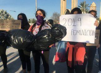 Manifestación pacífica de mujeres en Reynosa