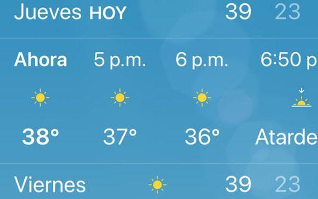 Seguirán altas temperaturas en Tamaulipas