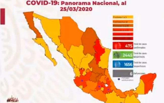 Sube a seis número de muertos por coronavirus en México