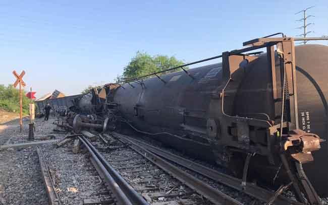 Tren se descarrila en Reynosa