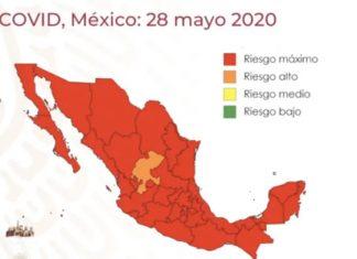 México en riesgo máximo por coronavirus