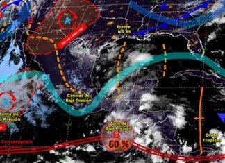 Se esperan lluvias para el sur del país