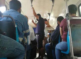 En Tampico los autobuses siguen llenos, no hay sana distancia