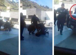 Policía de Tijuana pone su bota en el cuello de un hombre y lo mata