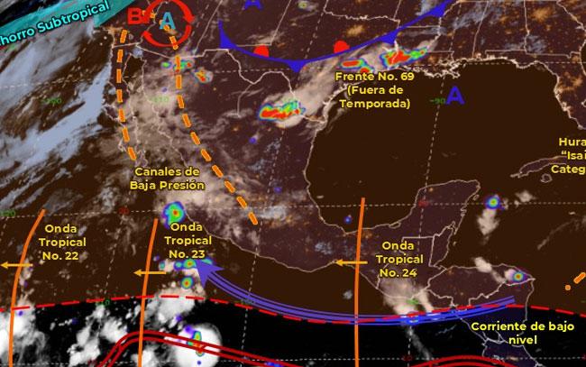 Frente frío 69 generará lluvias en Nuevo León y Tamaulipas
