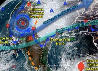 Descenso de temperaturas por ingreso de frentes fríos