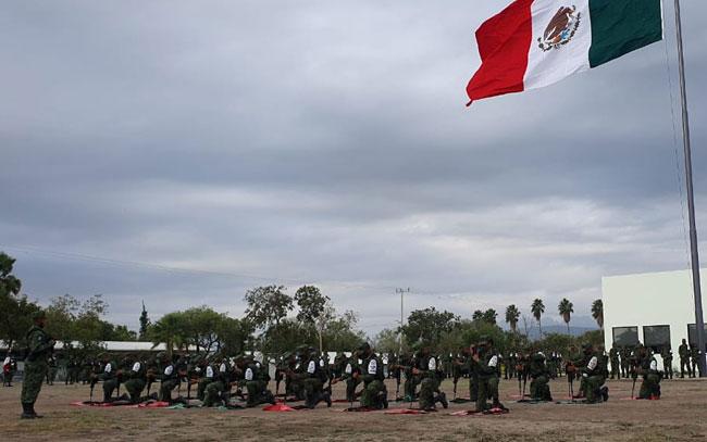 Se integran 187 elementos a la Guardia Nacional