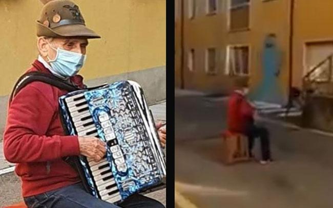 Abuelito lleva serenata a esposa hospitalizada por Covid-19