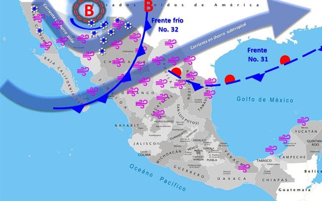 Prevalecerá el ambiente gélido en el noroeste y norte de México