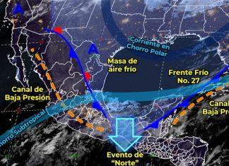 Frente frío 27 dejará de afectar al país