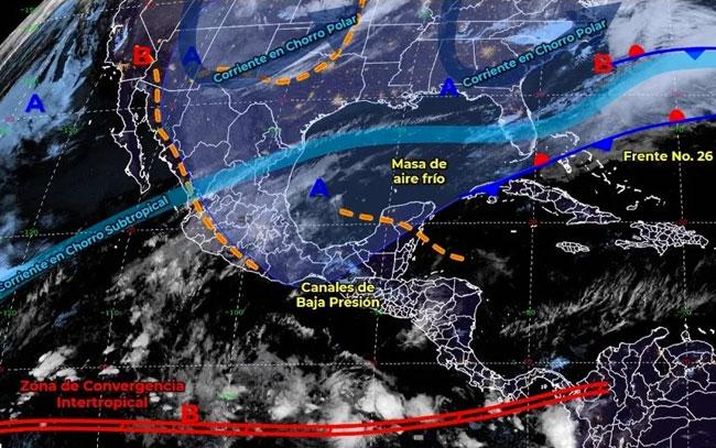 Nuevo frente frío afectará el noreste de México