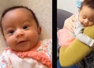 Bebé sorda escucha por primera vez la voz de mamá con canción