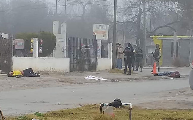 Ataque armado deja 2 muertos y un mujer lesionada en la colonia Lampasitos