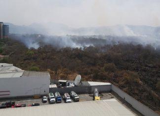 Se reaviva incendio en Tlalpan