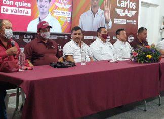 Importantes líderes dan su apoyo a Carlos Peña Ortiz