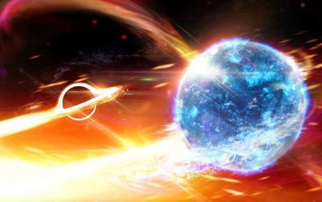 Detectan colisión de agujeros negros y estrellas de neutrones