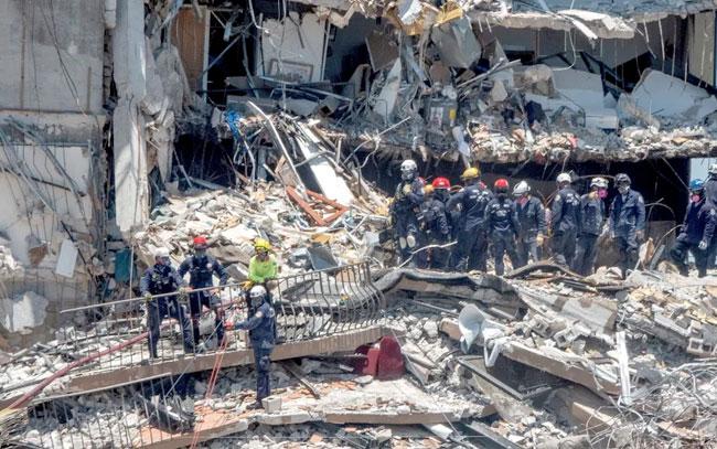 Hallan cuatro cuerpos más en edificio colapsado en Miami, Florida